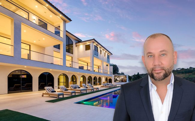 Ty Cueva and the home (Credit: Douglas Elliman PR)