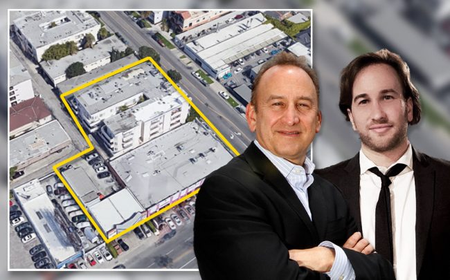 Ken Kahan and  Ari Kahan of California Landmark Group and the site (Credit: Glenn Koenig/Los Angeles Times via Getty Images, and Google Maps)