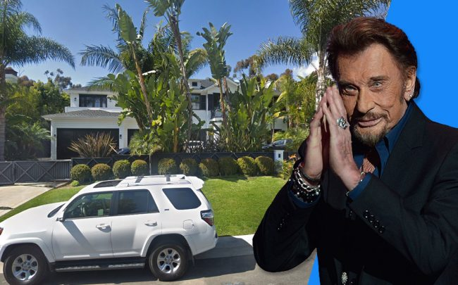Johnny Hallyday and the home (Credit: Kristy Sparow/Getty Images, and Google Maps)