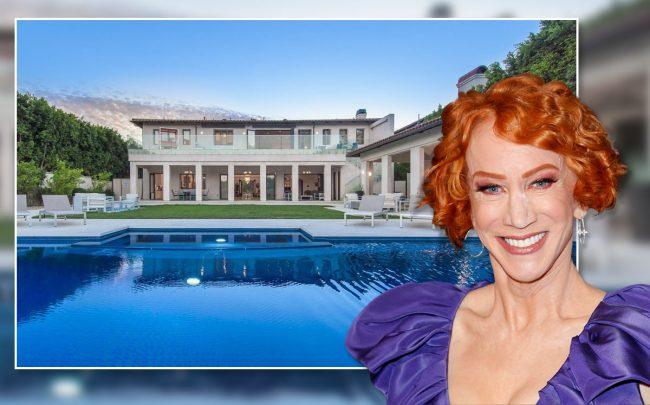 Kathy Griffin and the home (Credit: Douglas Elliman and Tibrina Hobson/Getty Images)
