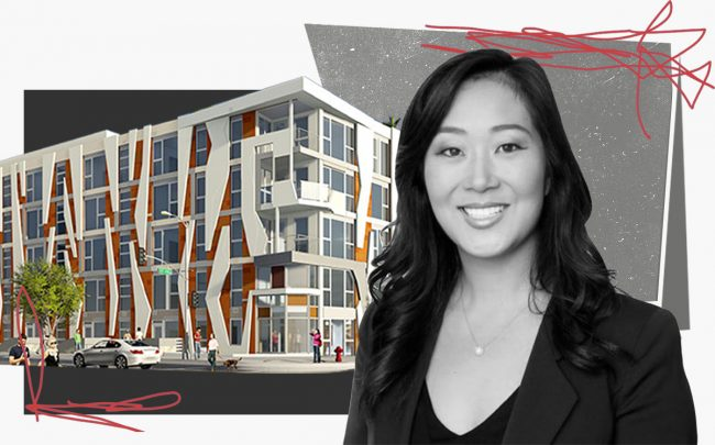 Jaime Lee and a rendering of the project (Withee Malcolm Architects)
