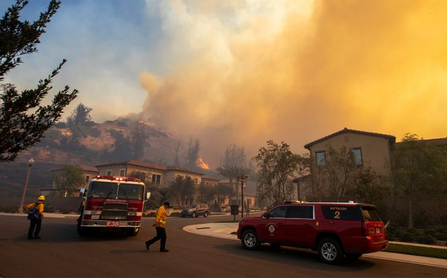 The Silverado Fire in Irvine, CA (Getty)