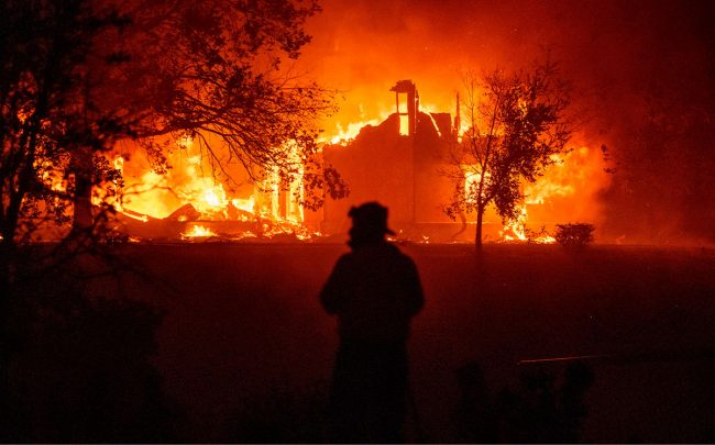 A home burns during the Complex fire (Credit JOSH EDELSON/AFP via Getty Images):
