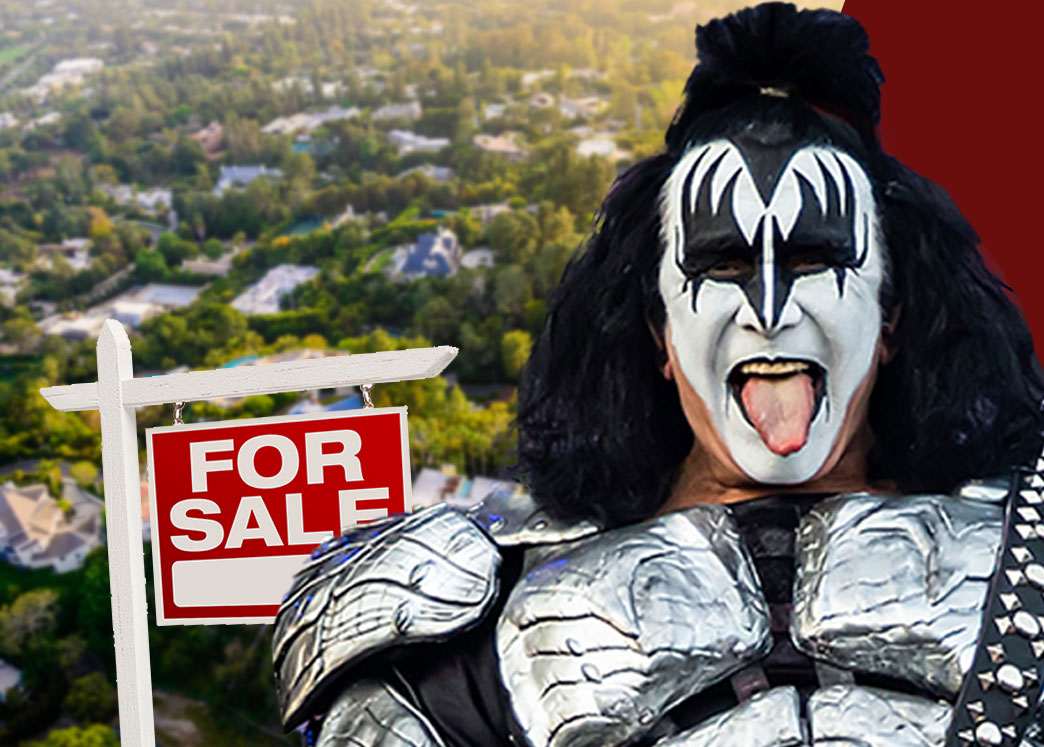 Image result for Kiss frontman Gene Simmons just sold his swanky LA mansion after vowing to leave California because of high taxes