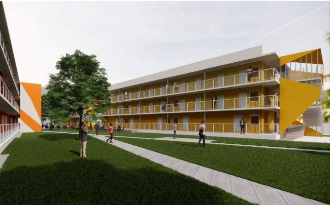 Rendering of the Vignes Street housing project (Credit: Los Angeles County via Urbanize)