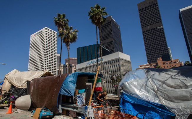 Tents in Los Angeles, California (Credit: APU GOMES/AFP via Getty Images)