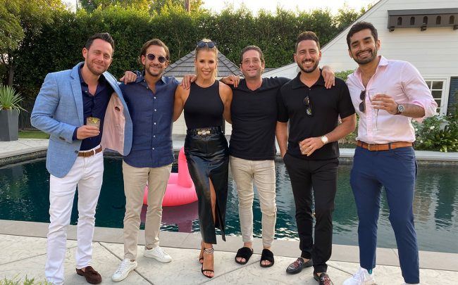 From left: David Parnes, James Harris, Tracy Tutor, Josh Flagg, Josh Altman, and Hiten Samtani