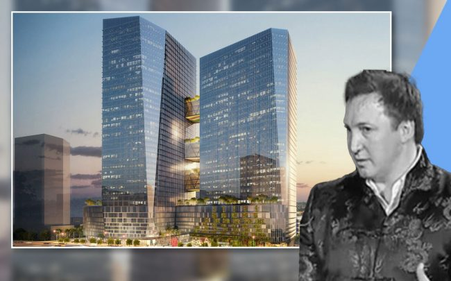 Onni Group's Rossano De Cotiis and a Wilshire Courtyard rendering