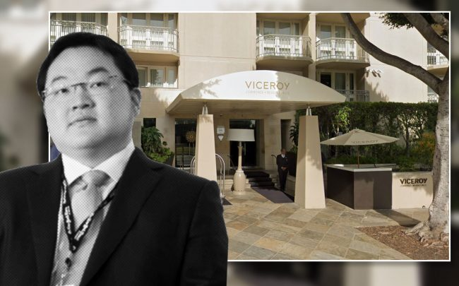 Jho Low and the hotel (Credit: Google Maps)