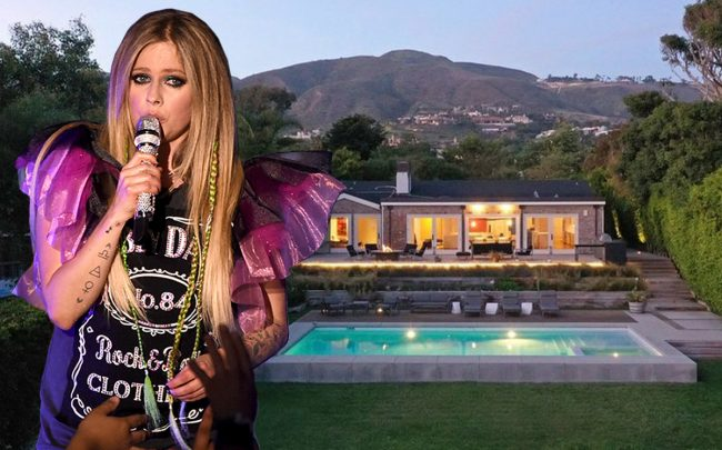 Avril Lavigne and 6453 Guernsey Avenue (Getty, Realtor)