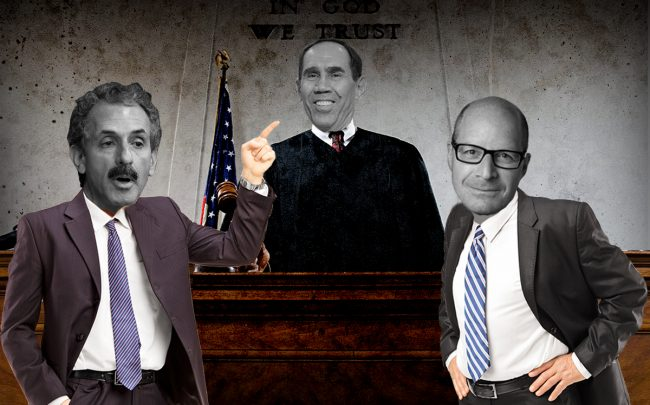 Photo illustration of Mike Feuer, Daniel Yukelson and Judge Dean Pregerson (Getty, iStock)