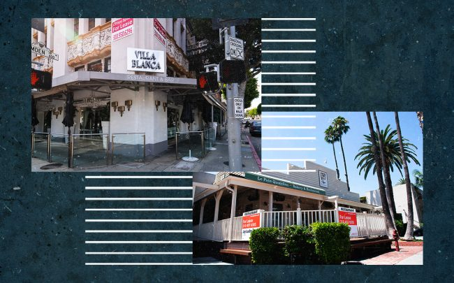 Villa Blanca in Beverly Hills and Le Pain Quotidien's West Hollywood location are just two restaurants to recently close due to the coronavirus pandemic (Getty)