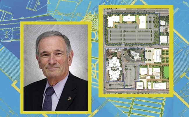 Landquist's David Meyer and a rendering of the project (Lundquist, LA County via LABJ)
