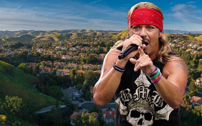 Bret Michaels and the city of Calabasas (Getty)