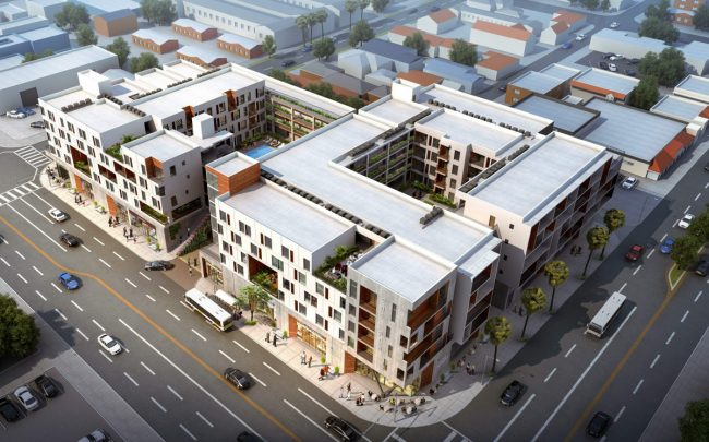The proposed 201PCH in Long Beach would include 138 market-rate units and 25,000 square feet of commercial space.