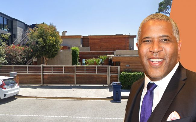 Robert F. Smith and the property (Credit: Google Maps)