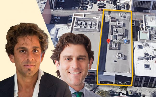 Michael Shabani of Crown and Russell Russell Gimelstob of Ascendant, and the building (Credit: Google Maps)