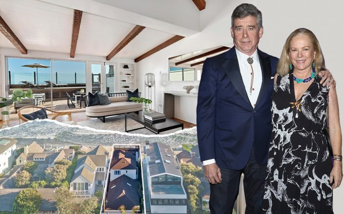 Anne Hearst and Jay McInerney with 23350 Malibu Colony Road (Getty, Redfin)