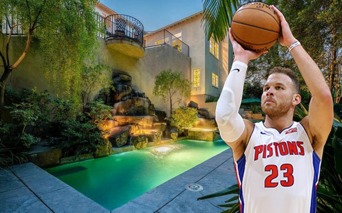 Blake Griffin and 256 N. Barrington Ave. (Getty, Realtor)