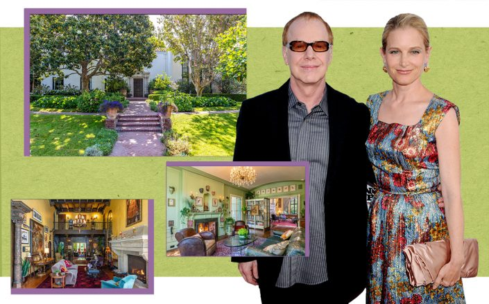 Danny Elfman and Bridget Fonda with114 Fremont Place (Getty, The Williams Estates)