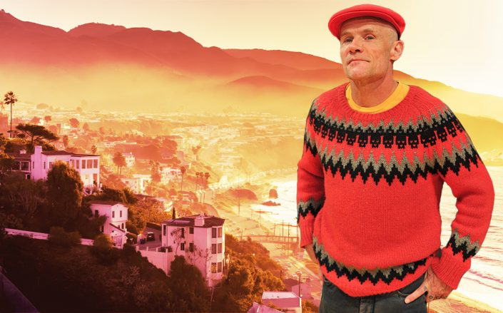 Red Hot Chili Peppers bassist Flea — real name Michael Balzary — sold his compound for $20 million (Getty, iStock)