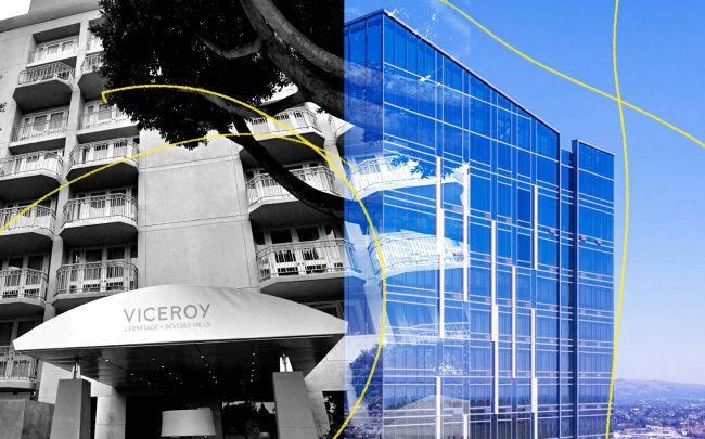 Left to right: Viceroy L'Ermitage Beverly Hills and THEA at Metropolis in Downtown (Google Maps, THEA)