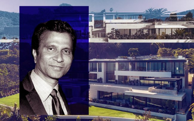 Raj Kanodia and 908 Bel Air Rd (Williams & WIlliams Estates Group, Getty)