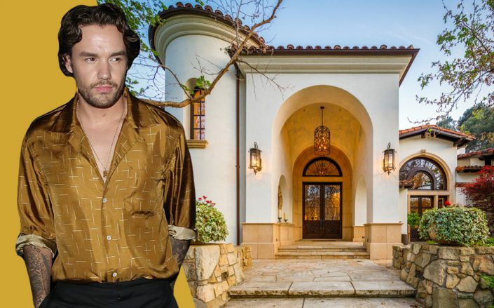 Liam Payne and his Monte Nido home (Getty, Redfin)