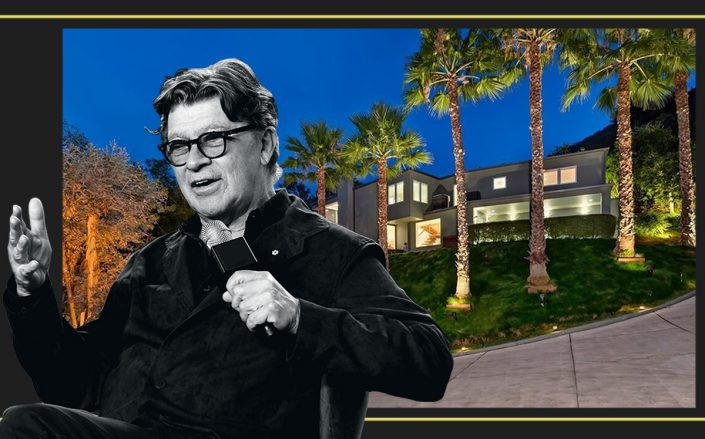 Robbie Roberston and his Beverly Hills Post Office home (Getty, Redfin)