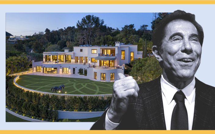 Steve Wynn and 1210 Benedict Canyon Drive (Getty, Compass)