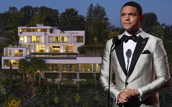 Trevor Noah and the Bel Air house (Getty, Redfin)