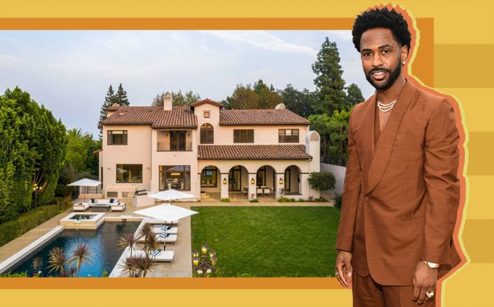 Big Sean and his Sherman Oaks house (Getty, Redfin)