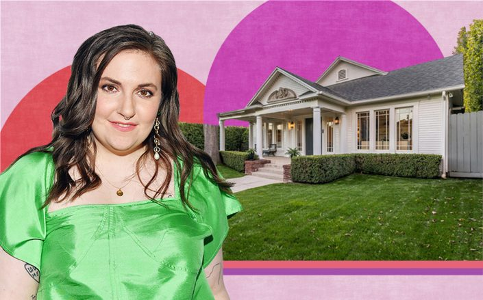 Lena Dunham and her North Ogden Drive home (Getty, Compass)
