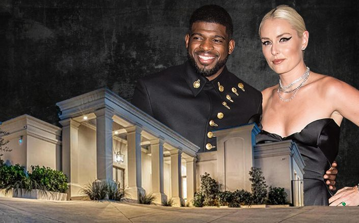 P.K. Subban and Lindsey Vonn with their Beverly Hills home (Getty, Hurwitz James Company)