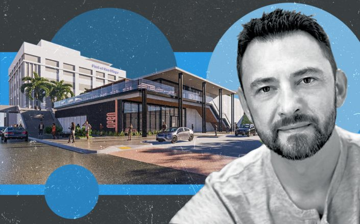 Stay Open CEO Steve Shpilsky and a rendering of the project (Linkedin, Stay Open)
