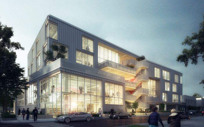 Rendering of the Melrose + Seward project. (Bardas)