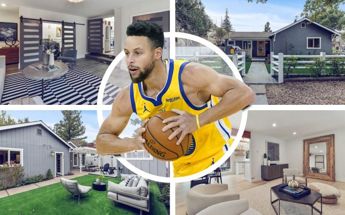 Curry bought the Menlo Park home 2 years ago. (Getty, Compass)
