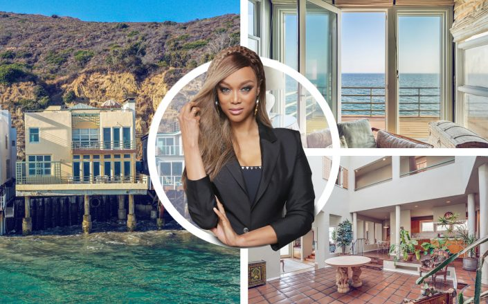 Tyra Banks with her new 4 bedroom coastal home. (Getty, Coldwell Banker Realty)