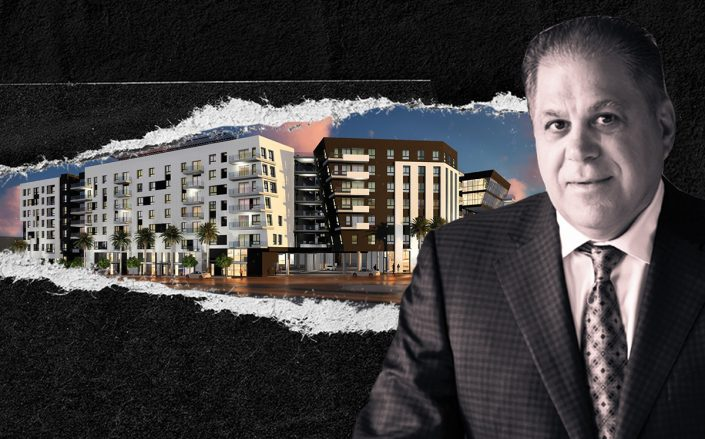 Rescore Property Corp. Managing Principal Arthur Falcone and a rendering of the project (iStock)