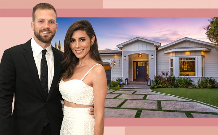 Jamie-Lynn Sigler and Cutter Dykstra with their Valley Village home (Getty, Compass)