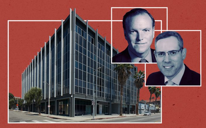 6725 West Sunset Boulevard in Hollywood with Vanbarton Group's Richard Coles and Global Atlantic chairman and CEO Allan Levine (JLL)