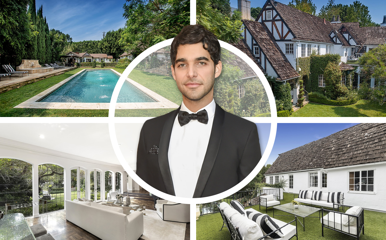 Freddy Wexler and his new Beverly Hills home. (Getty, Jade Mills Estates)