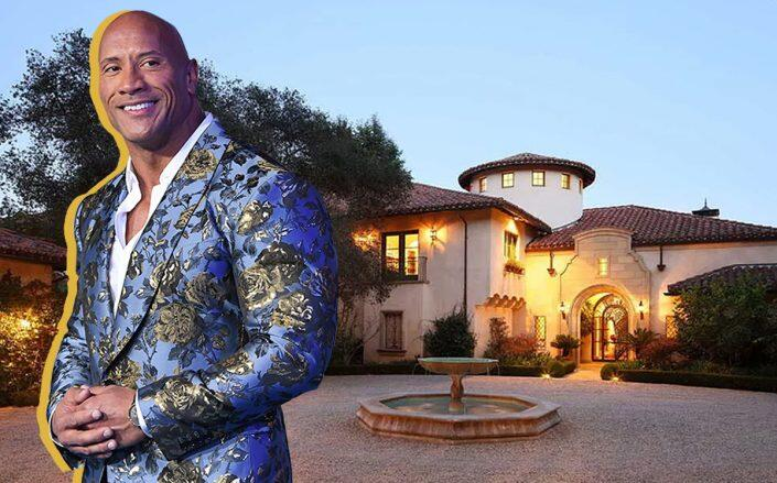 "Dwayne ""The Rock"" Johnson and the Beverly Hills home (Getty, Zillow)"