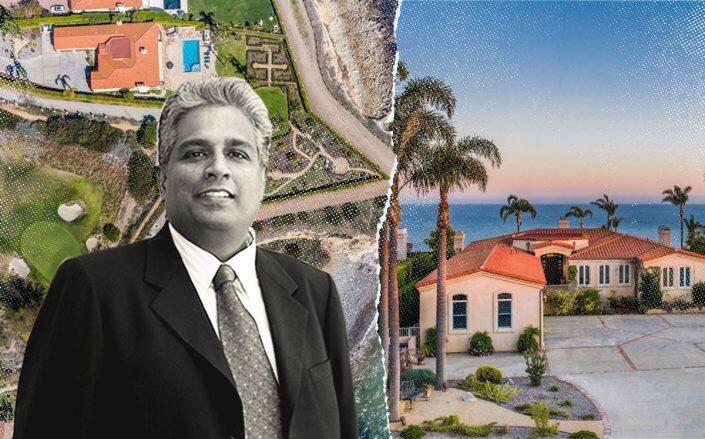 Subrah Iyar and one of his Sea Cove Drive properties (Getty, Redfin)