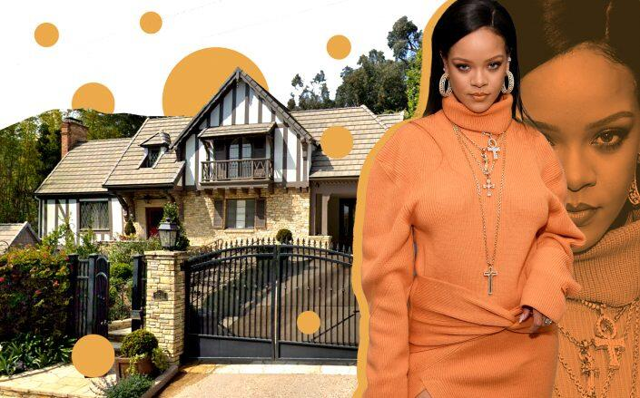 Rihanna and the home in Beverly Hills Post Office (Getty, Google Maps)