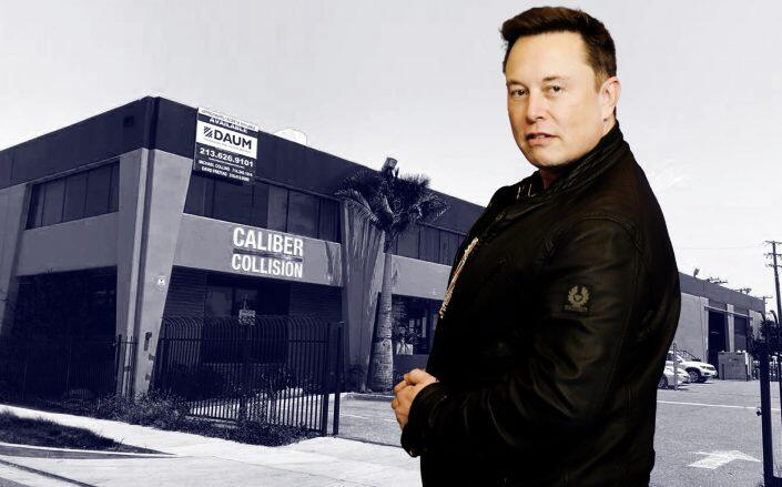 Tesla's new property is 82,000 square feet. (Getty, Daum Commercial)