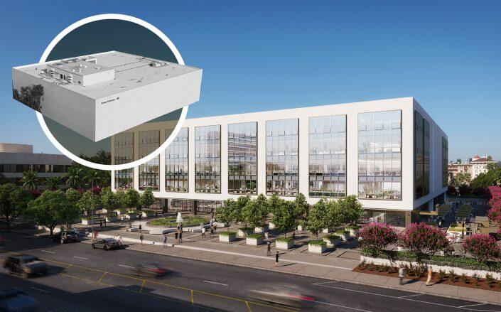 Rendering of the new Pasadena office. (JLL, 101 South Marengo)
