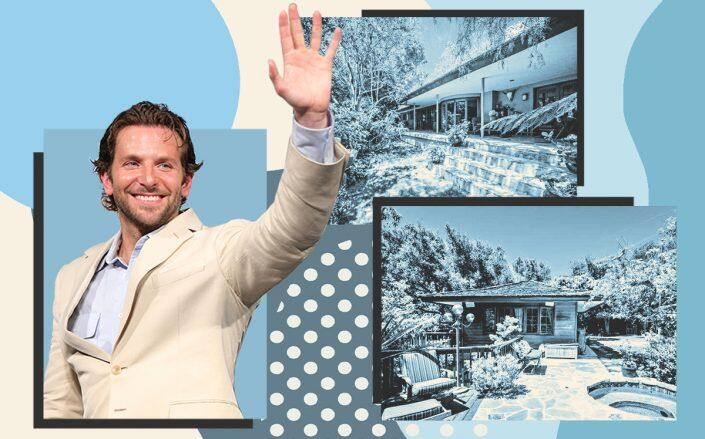 Bradley Cooper and his Pacific Palisades home (Getty, Realtor, iStock)