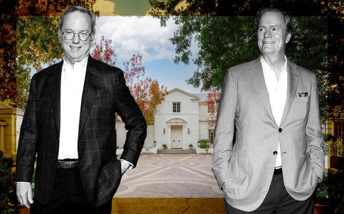 Eric Schmidt and Rick Hilton with 1060 Brooklawn Drive, Holmby Hills (Getty)
