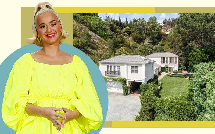 Katy Perry and 9575 Lime Orchard Drive (Getty, Redfin)